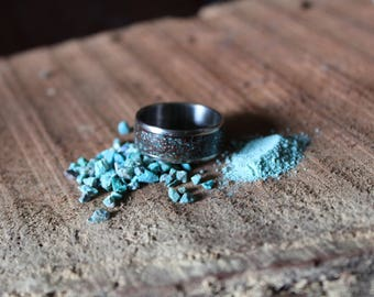 Turquoise and Mesquite Ring