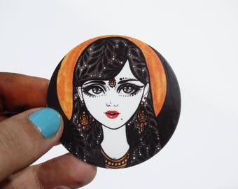 Fille de la Lune Sticker