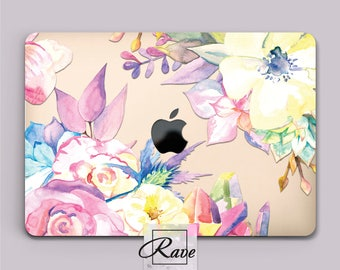 MacBook floral Mac Book Pro case a1706 case MacBook laptop case hard Macbook pro 15 2017 MacBook 11 inch case MacBook 13 cute Mac air cases