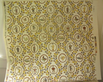 piece of vintage Clarence House chinoiserie wallpaper