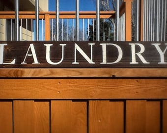 Laundry Sign Rustic Wood Reclaimed Repurposed