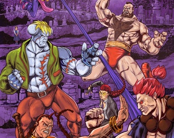 Street Fighter  VS Dark Stalkers Print