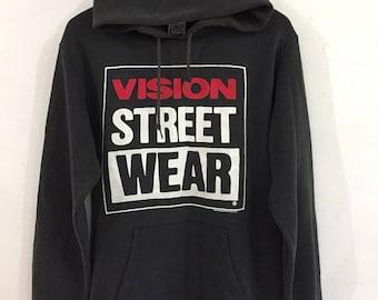 Vintage 90s Vision Street Wear Hoodies Old Skateboard Medium