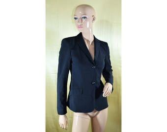 Vintage Piazza Sempione women blazer Made in Italy wool dark gray