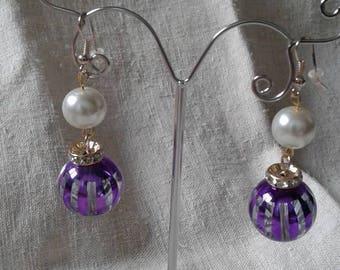 """Earrings """"large Pearl violet"""""""