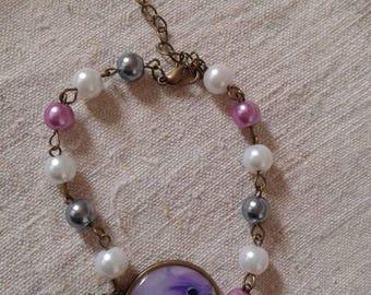 """""""pretty little purple bird"""" bracelet"""