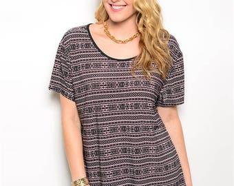 Plus Size Tribal Lace top