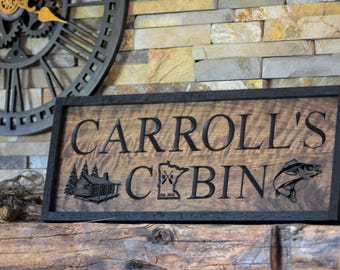 Custom Last Name Cabin Sign