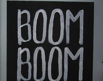 Boom Boom ADPi Canvas, Alpha Delta Pi, Big Little Gift