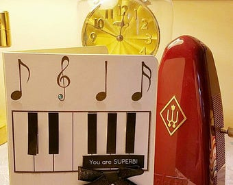 """Piano greeting card """"You are Superb"""""""
