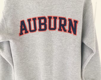 90's Vintage AUBURN TIGERS Gray Sweatshirt Auburn University Auburn Alabama SEC Size Small