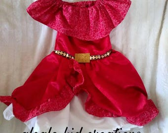 Elena of avalor costume,Mexican fiesta dress,Elena of avalor dress