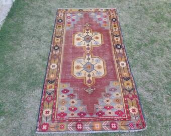 Anatolian Rug, Turkish Rug, Wool Turkish Rug, Tribal Rug, Cappadocia Rug, Turkish Carpet, Vintage Turkish Rug