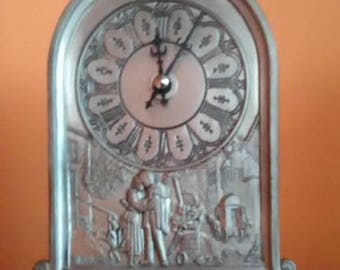 Massive watche, silver and tin is the material,  Watch with engraving, clock