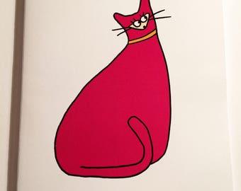 A5 Cat Notebook (plain inside)