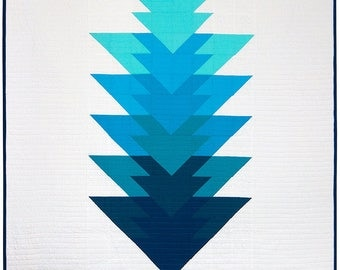 set of 6 blue Kona solid ARROWHEAD quilt fabric coupon