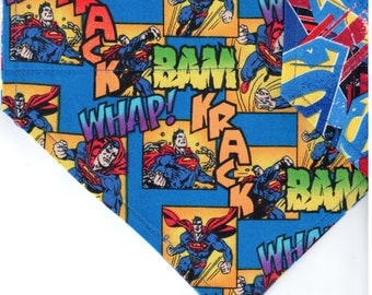 Superman Superhero Bandana | Custom Dog Bandana | Custom Custom Dog Bandana