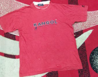 vintage kangol t shirt spell out size M