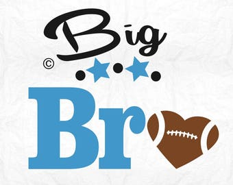 big bro american football SVG Clipart Cut Files Silhouette Cameo Svg for Cricut and Vinyl File cutting Digital cuts file DXF Png Pdf Eps