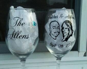 Wedding Wine Glass Set