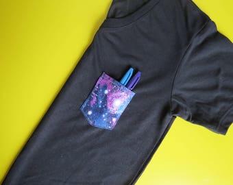 Medium Galaxy Pocket Tee Vneck