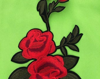Beatiful Embroider FLOWER PATCH IRON  On