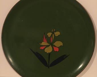Vintage Norleans Laquer Tray - Avocado Green