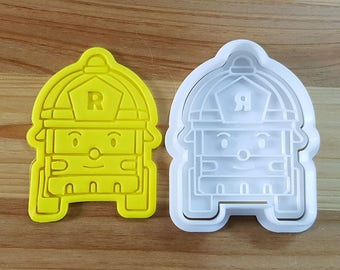 Robocar Poly - Roi Cookie Cutter and Stamp