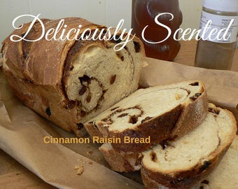 1/2 or 1 oz CINNAMON RAISIN BREAD Fragrance Oil for candles, soap, perfume oil, cosmetics, soap making, best, pure, skin safe, supply,sample