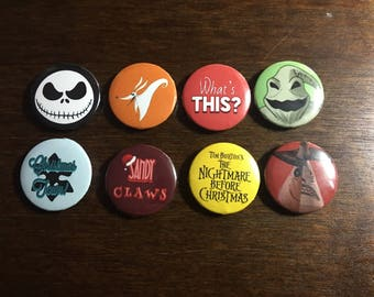 Nightmare Before Christmas Pins - Set of 8