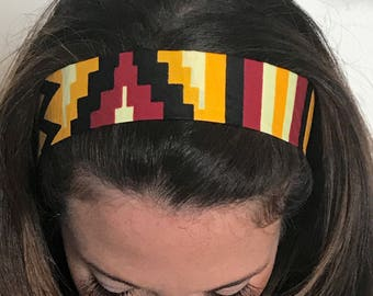 African Headband Tie Back African Hair Accessories Ankara Headband Workout headband African Accessories African Head Scarf  Ethnic Headband