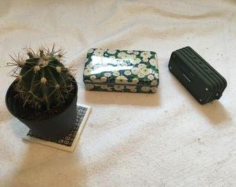 Vintage Flowered Tin Box
