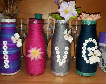 hand made decoration glass bottle