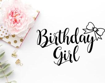 Birthday Girl DIY - Birthday Girl SVG File - Cut Files - Cricut Cut File -Birthday Girl Princess Theme - Bow SVG