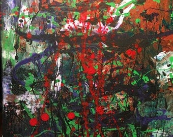 Abstract Painting, 25% OFF SALE with coupon code JULYSPECIAL25 at checkout: Flux