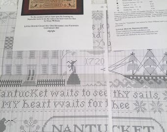 Little House Needleworks Old Nantucket Cross Stitch Chart and Instructions