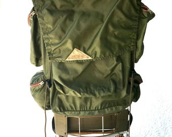 Vintage KELTY External Frame Backpack | Vintage Army Green KELTY Hiking Pack | Retro Hiking Bag | Kelty Hiking Backpack | Aluminum Frame