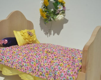 Ade&Lina Flower Doll Bed