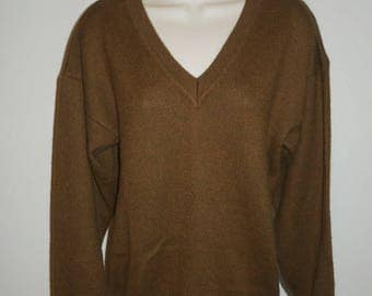 Vintage Oscar Hackman Alpaca Sweater ~ 1980's Brown Alpaca Sweater ~ Soft Alpaca Sweater ~ Made In Peru ~ Vintage Alpaca Sweater ~