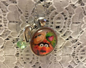 Muppets Charm Necklace/Muppets Jewelry/Muppets Necklace/Muppets Pendant/I Love The Muppets/Muppet Fan Gift/The Muppets