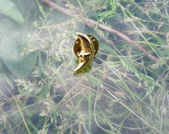 gold crescent moon pin