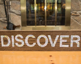 Discover this handmade sign for the traveler in your life