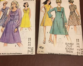Two Vintage Dress Patterns