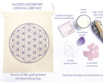 Sacred Geometry - Crystal Grid Kit