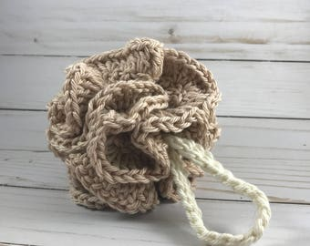 Loofah / Bath sponge / Shower puff / Loofah sponge / Bath poof / Eco friendly / Shower loofah / Crochet loofah / Bath puff / Gift for her