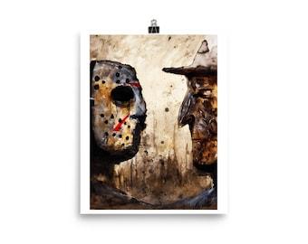 Freddy vs Jason fine art print