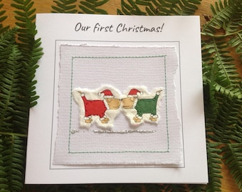 Our first Christmas together card. Christmas card for husband. Festive card for wife. 1st Christmas together card.  Holiday card for wife