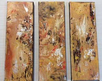 Triptych (3) panel  original acrylic art