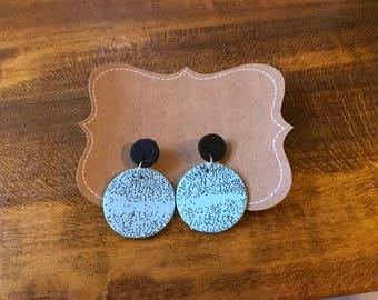 Polymer clay stud earring