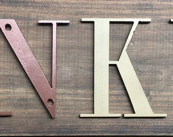 """7"""",8"""", 9"""", 10"""" -  Any Size - Painted Metal Letters and Numbers - Personalize - Any Font"""
